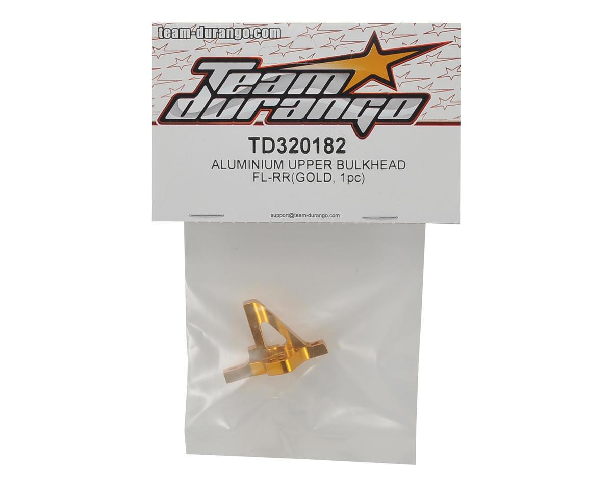 Team Durango DETC410 V2 Aluminum FL-RR Upper Bulkhead (Gold)
