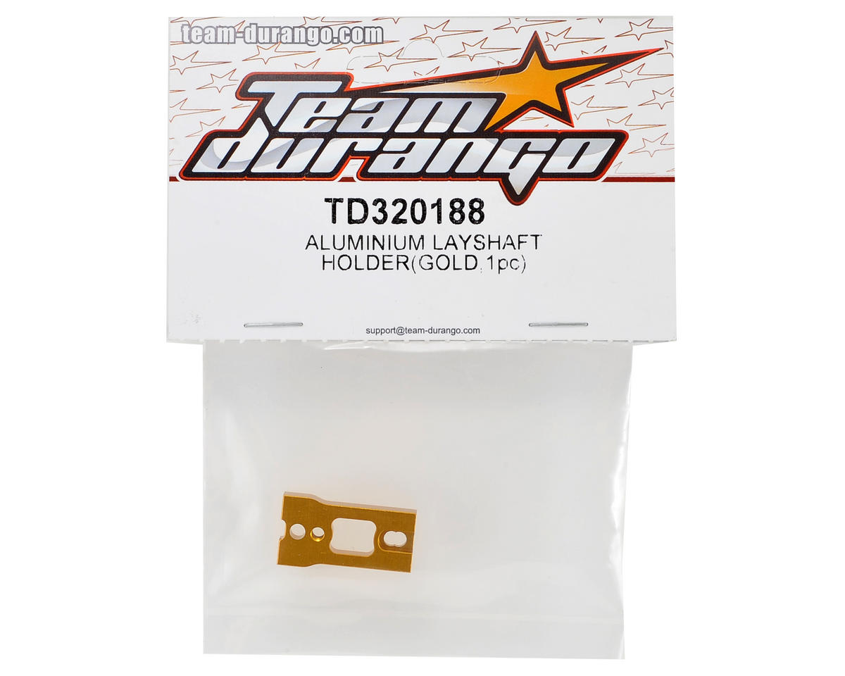 Team Durango Aluminum Layshaft Holder (Gold)