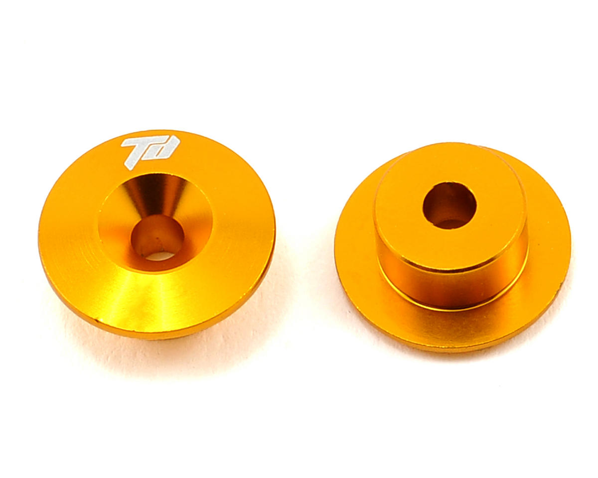 Team Durango Aluminum Front Bulkhead Button (Gold) (2)