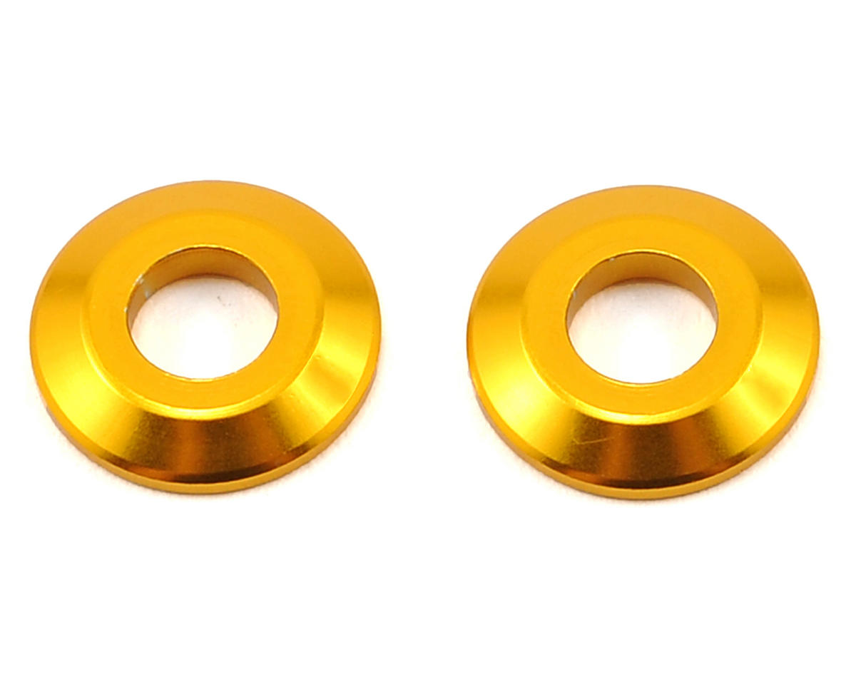 Team Durango Aluminum Wing Button (Gold) (2)