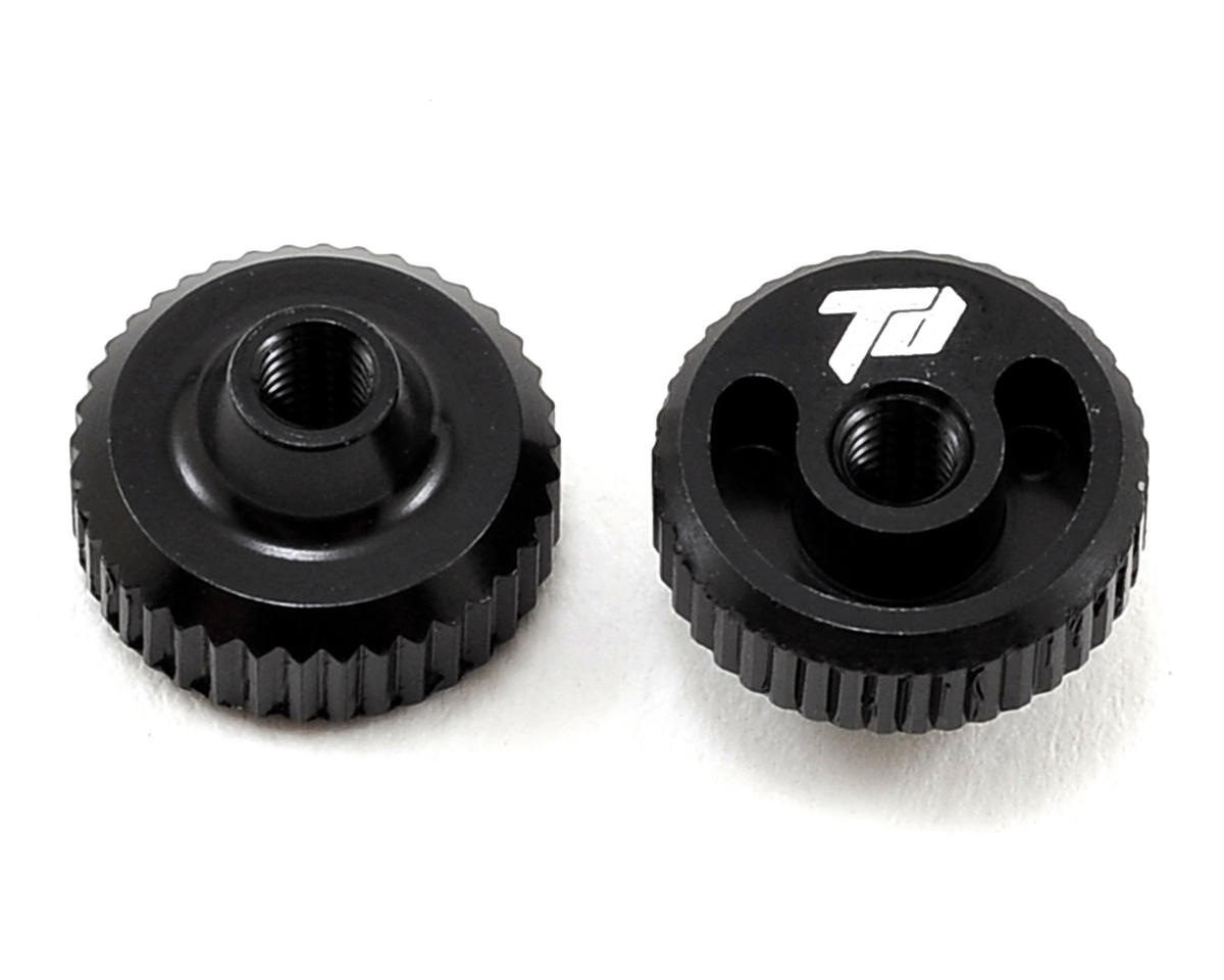 Team Durango DESC410R Aluminum Thumb Nut (Black) (2)