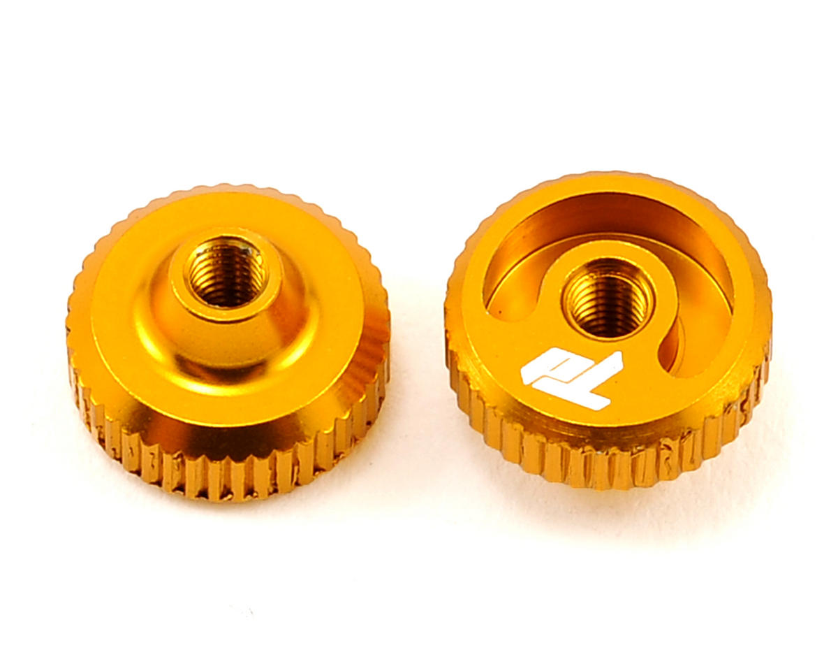 Team Durango Aluminum Thumb Nut (Gold) (2)
