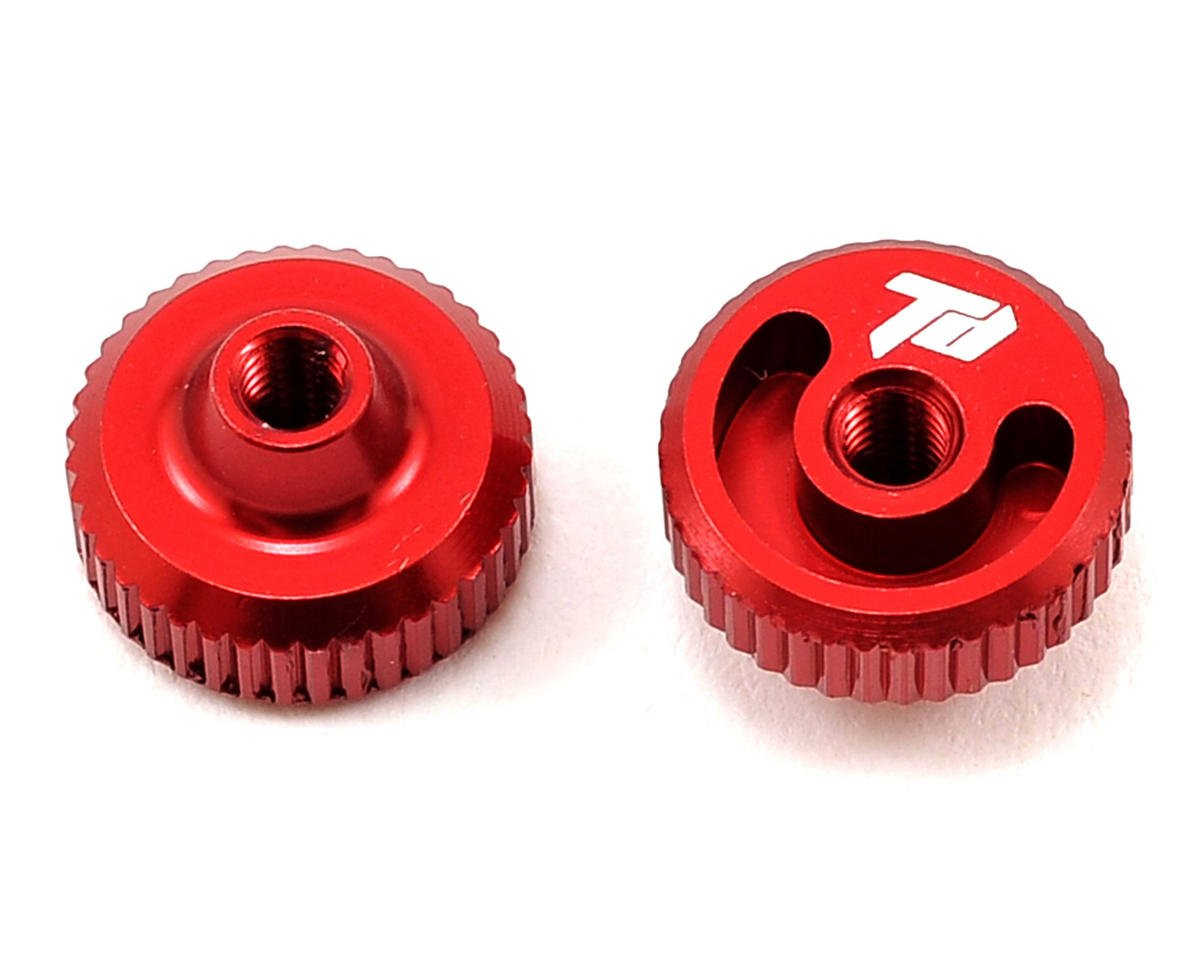 Team Durango Aluminum Thumb Nut (Red) (2)