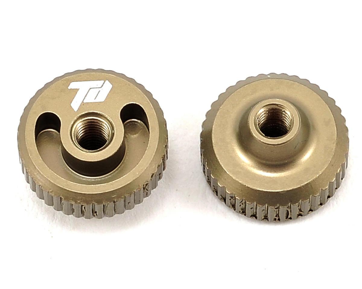Team Durango DESC410R Aluminum Thumb Nut (Olive) (2)