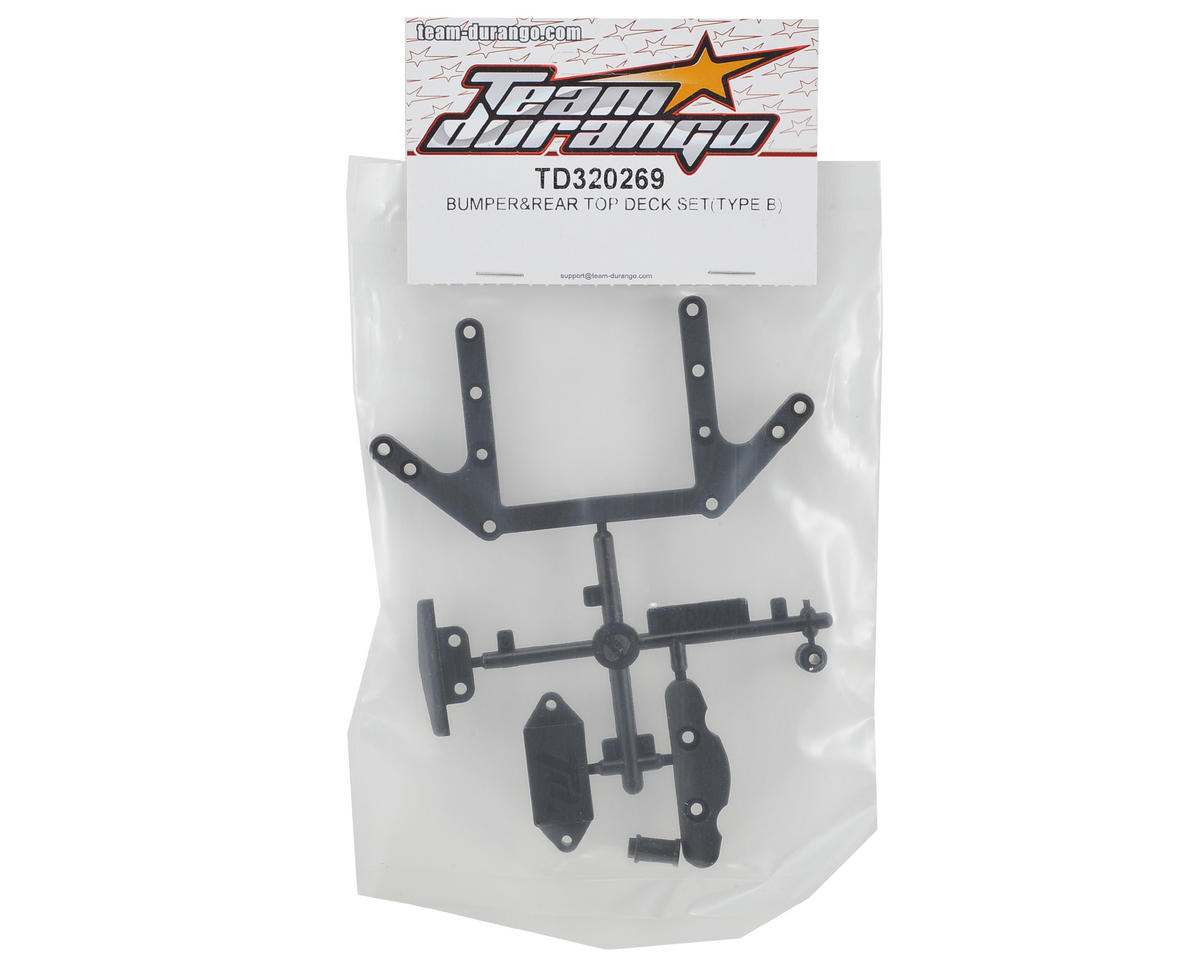 Team Durango Bumper & Rear Top Deck Set (Type B)