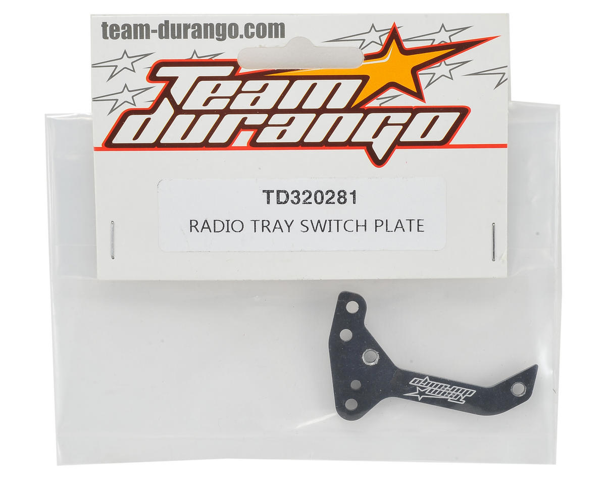 Team Durango Radio Tray Switch Plate