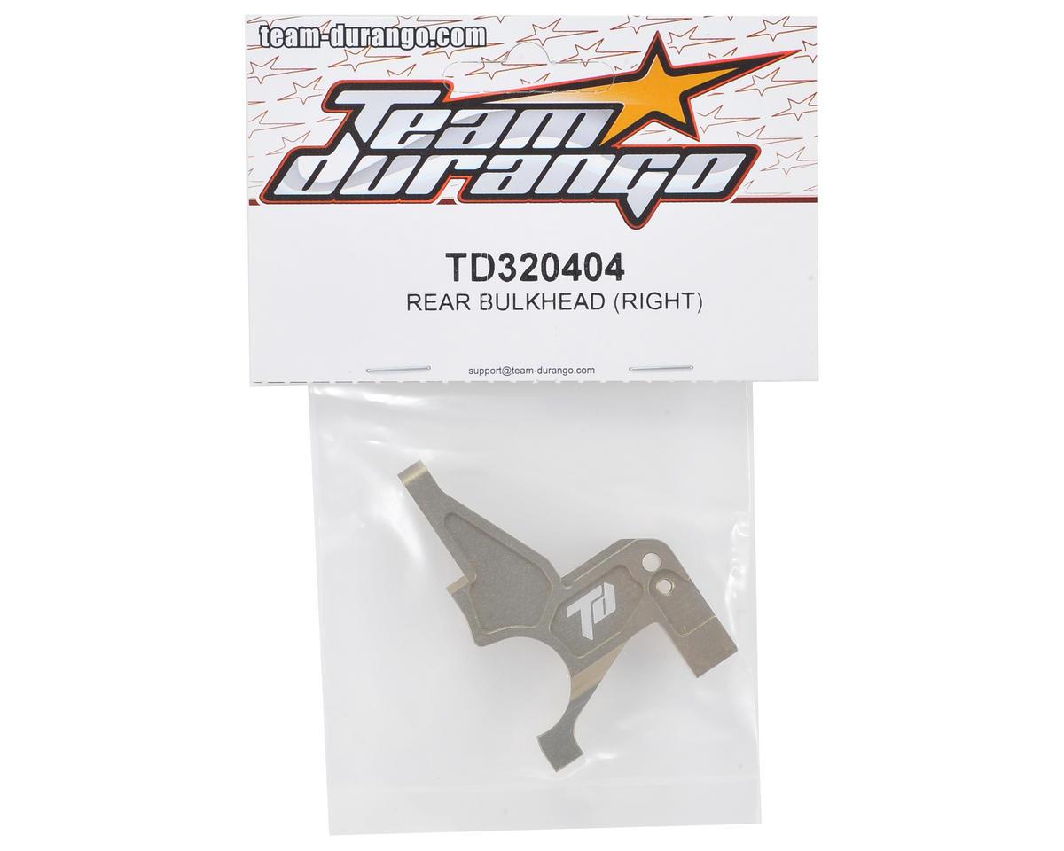 Team Durango Right Rear Bulkhead