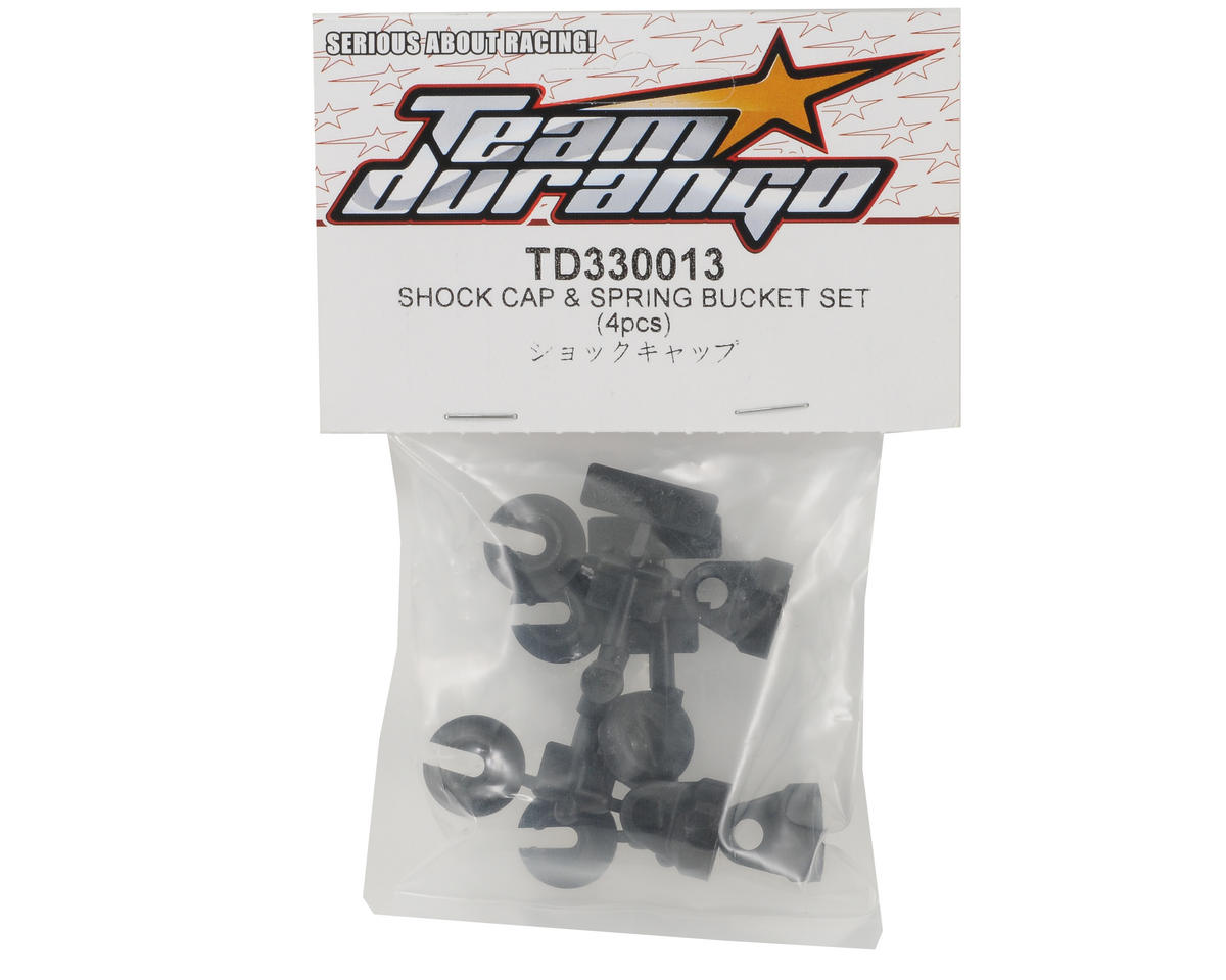 Team Durango Shock Cap & Spring Cup Set (Standard Bore)