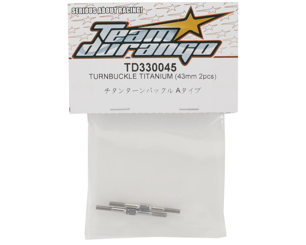 Team Durango 43mm Titanium Turnbuckle Set (2)