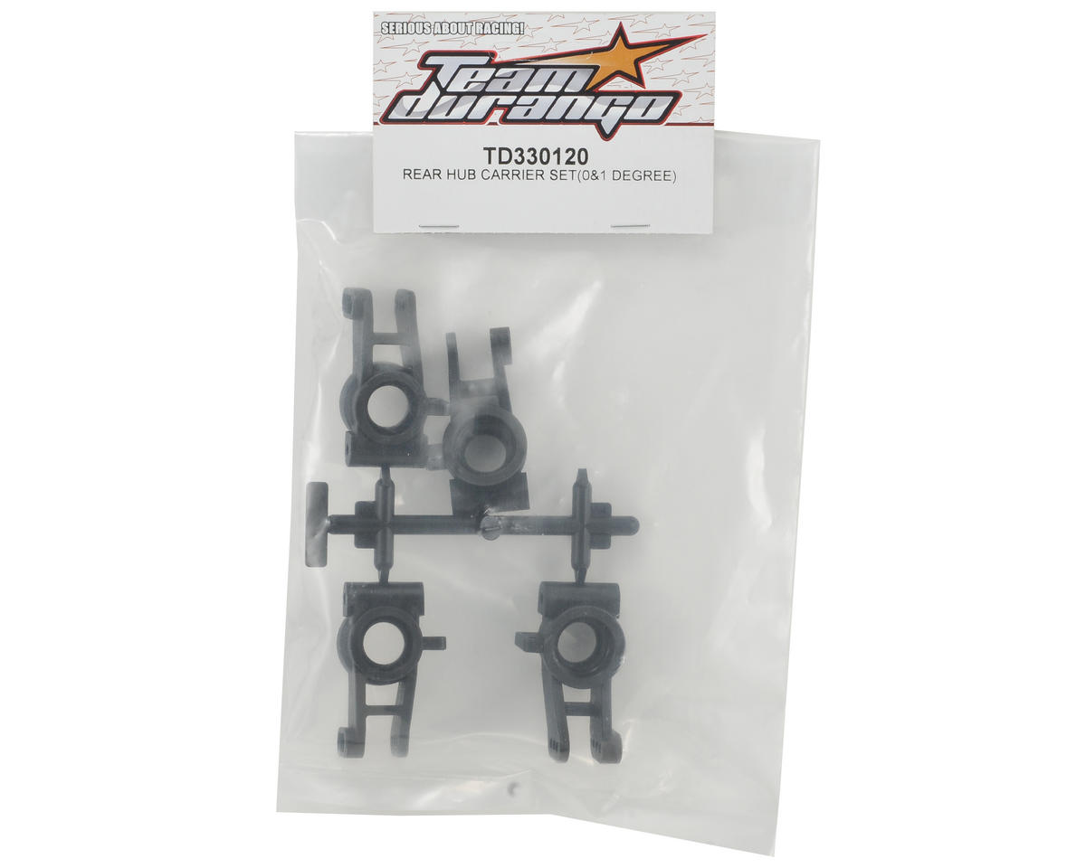 Team Durango 0° & 1° Rear Hub Carrier Set