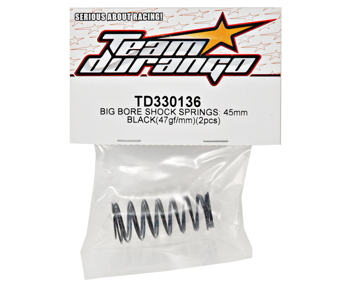 Team Durango 45mm Front Big Bore Shock Spring Set (Black) (49gf/mm) (2)