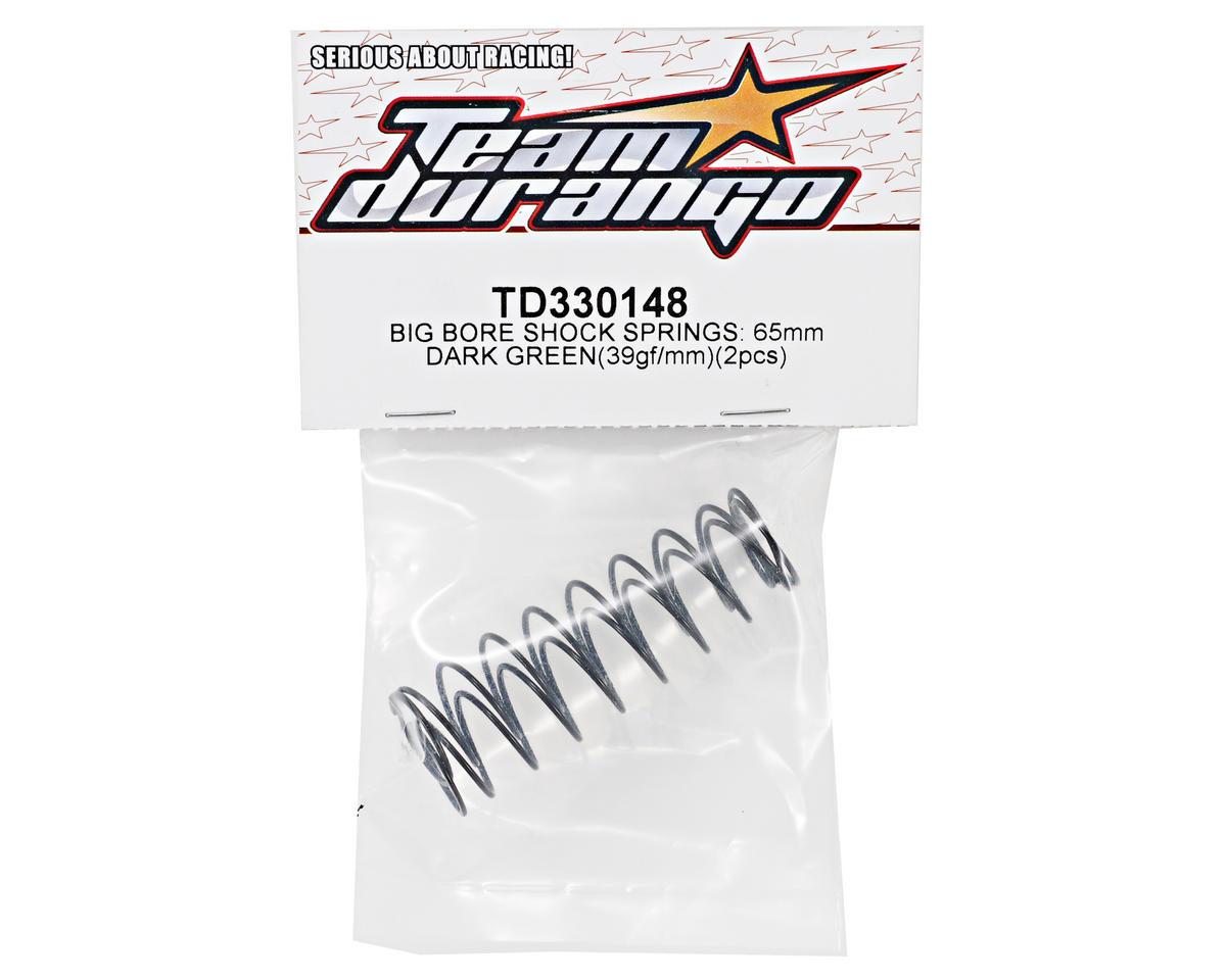 Team Durango 65mm Rear Big Bore Shock Spring Set (Dark Green) (39gf/mm) (2)