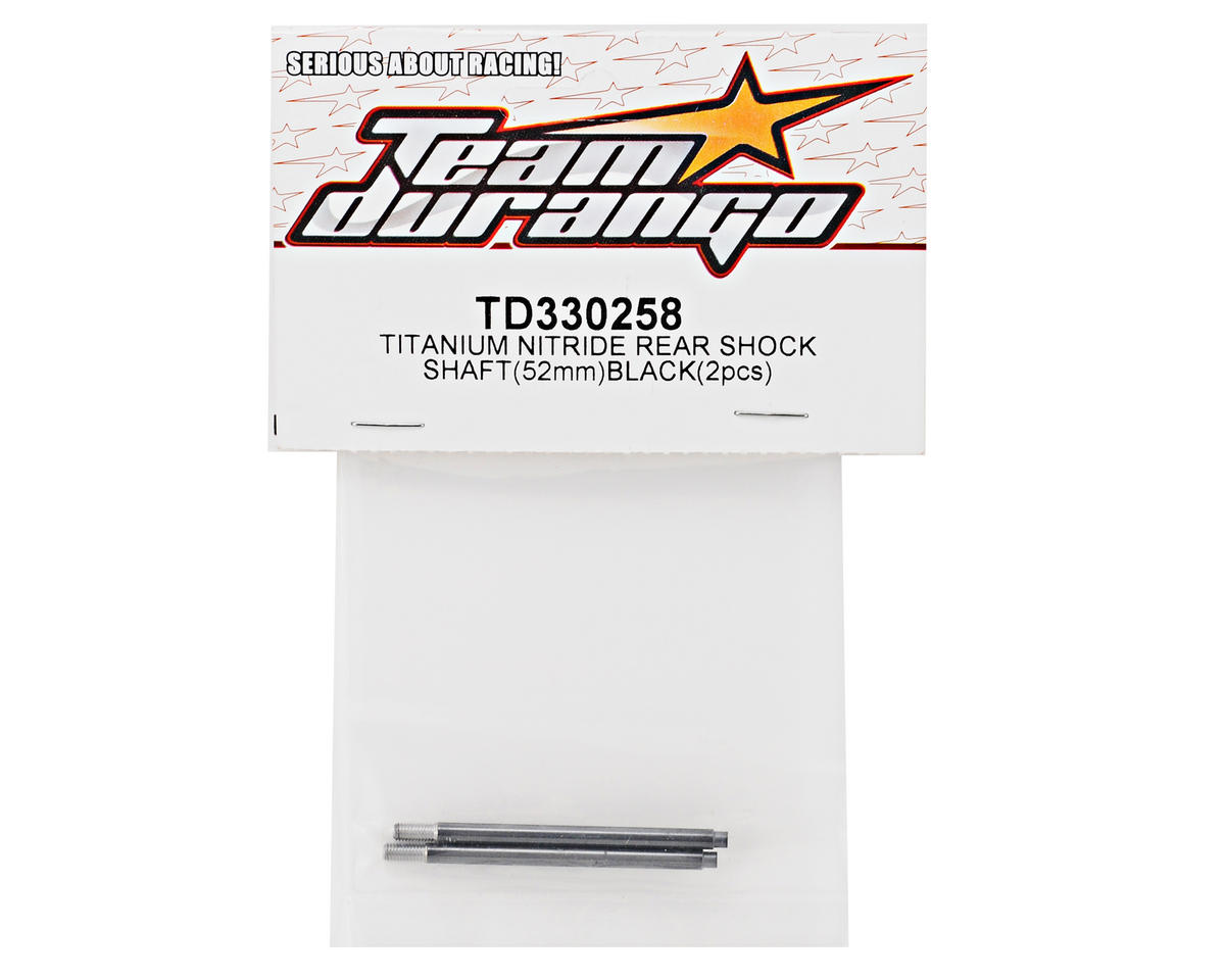 Team Durango 52mm Titanium Nitride Rear Shock Shaft Set (Black) (2)