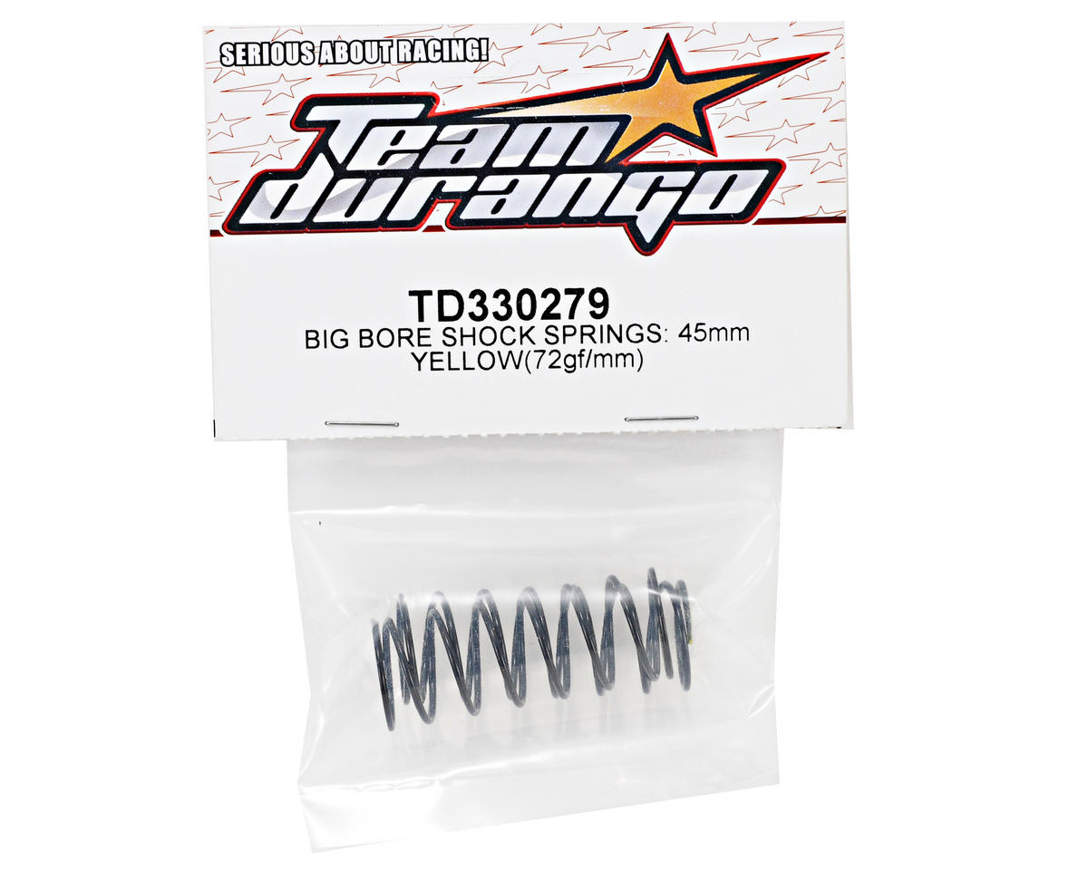 Team Durango 45mm Front Big Bore Shock Spring Set (Yellow) (72gf/mm)
