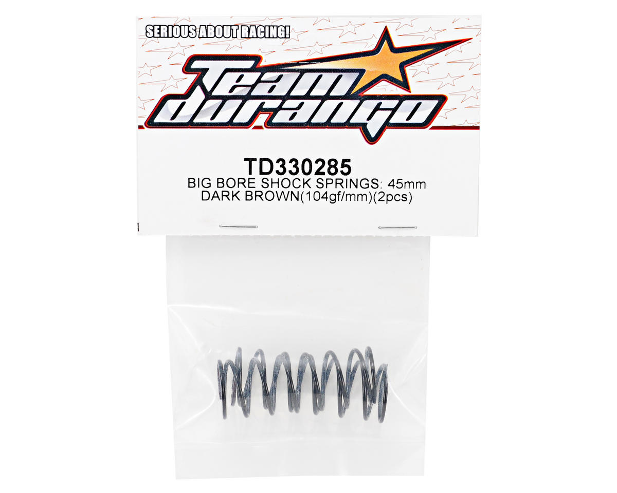 Team Durango 45mm Front Big Bore Shock Spring Set (Dark Brown) (104gf/mm) (2)