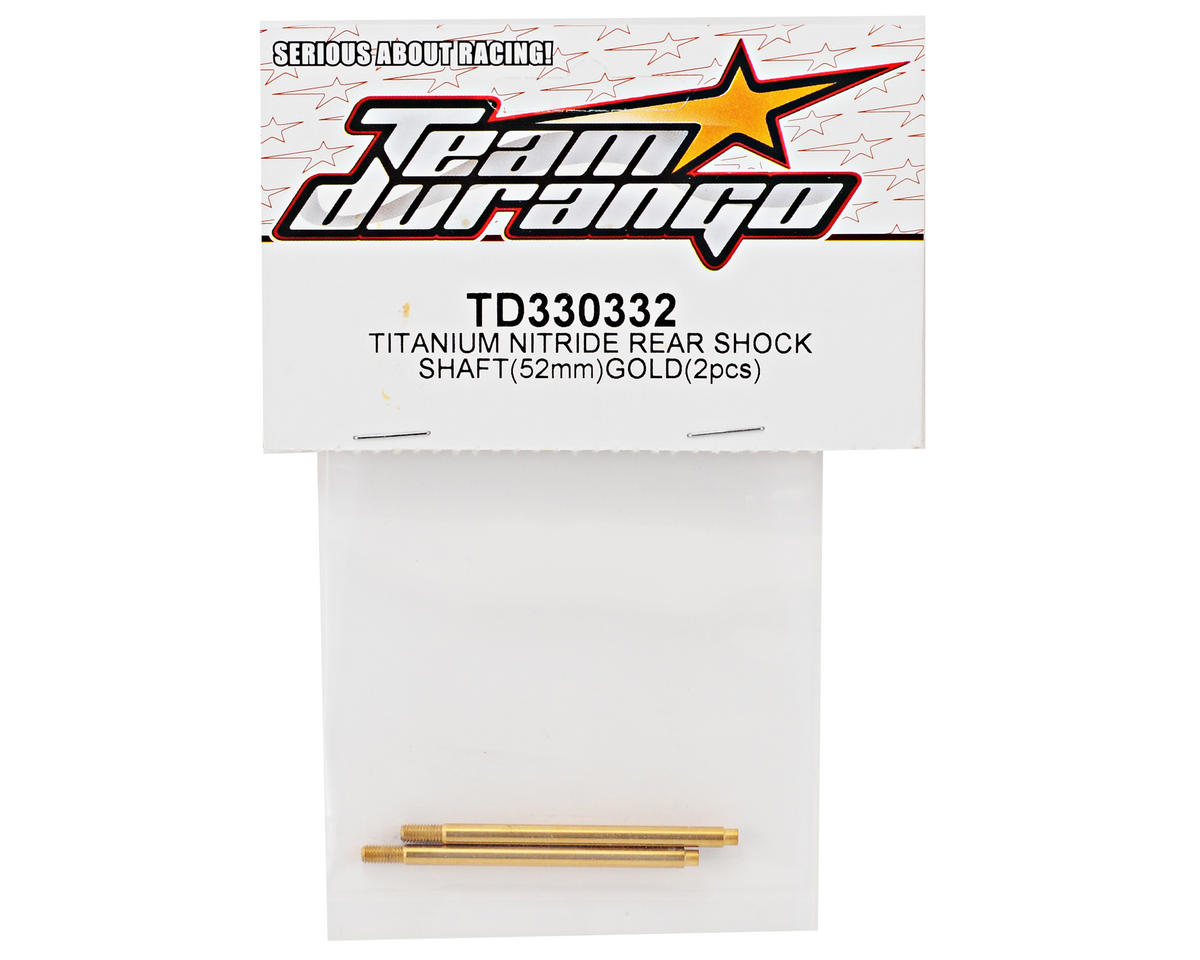 Team Durango 52mm Titanium Nitride Rear Shock Shaft Set (Gold) (2)
