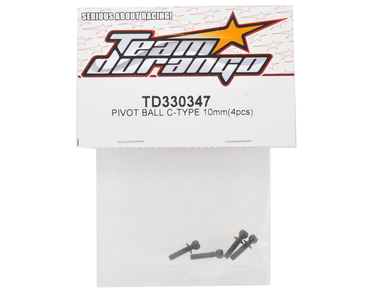 Team Durango 10mm C-Type Pivot Ball Set (4)