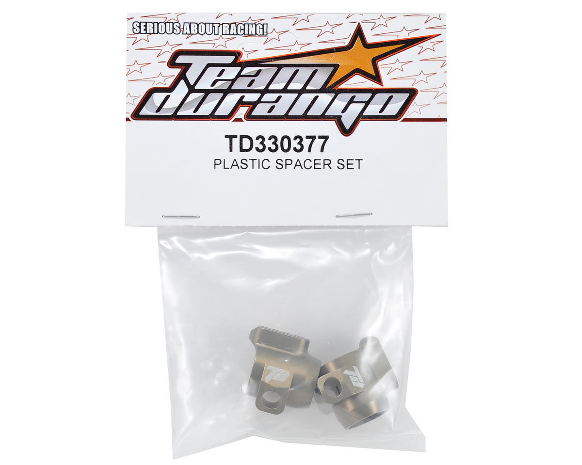 Team Durango Aluminum Rear Hub Carrier Set (2)