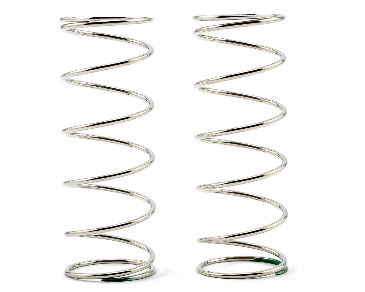 Team Durango Front Shock Spring Set (Silver/Green) (88gf/mm) (2)