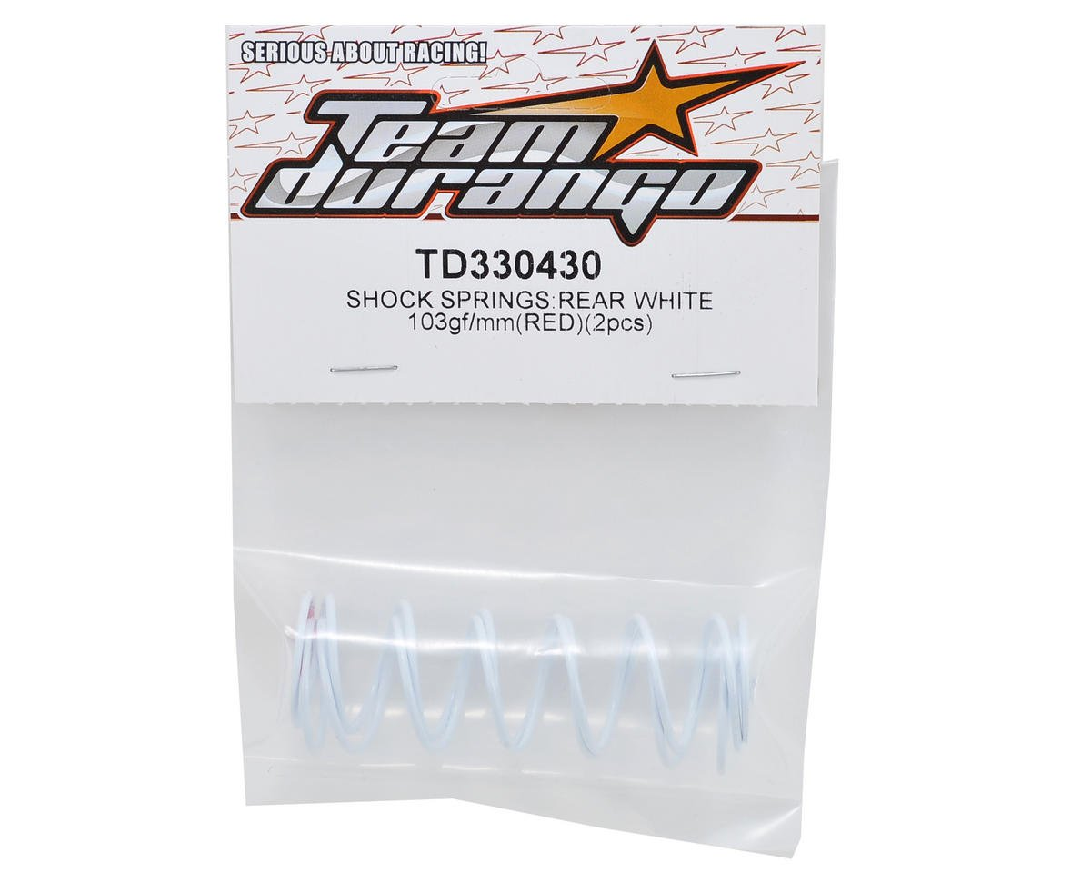 Team Durango Rear Shock Spring Set (White/Red) (103gf/mm) (2)