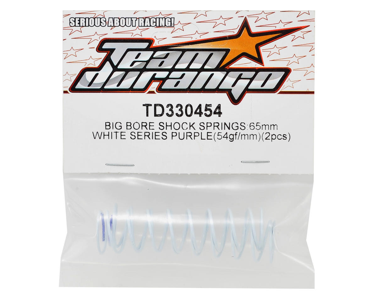 Team Durango White Series 65mm Rear Big Bore Shock Spring (55.72gf/mm) (2)