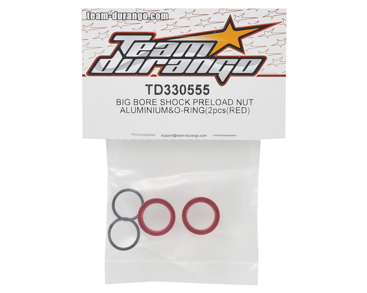 Team Durango Aluminum Shock Nut w/O-Ring (Red)