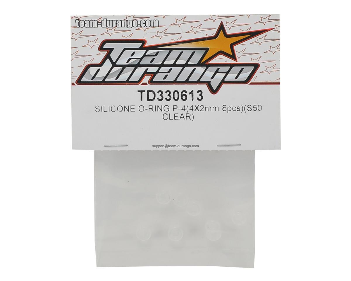 Team Durango P-4 4x2mm S50 Silicone O-Ring (8) (Clear)