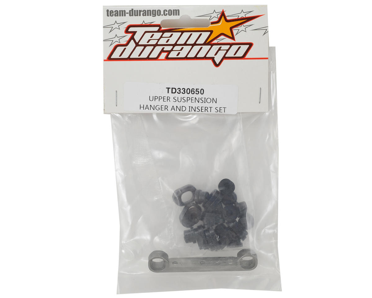 Team Durango Upper Suspension Hanger & Insert Set