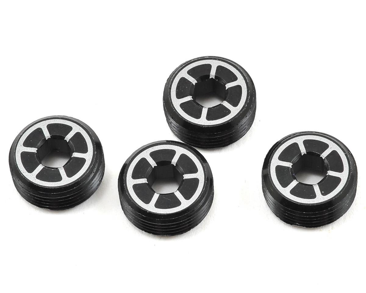 Team Durango Aluminum Front Hub Nut (Black) (4)