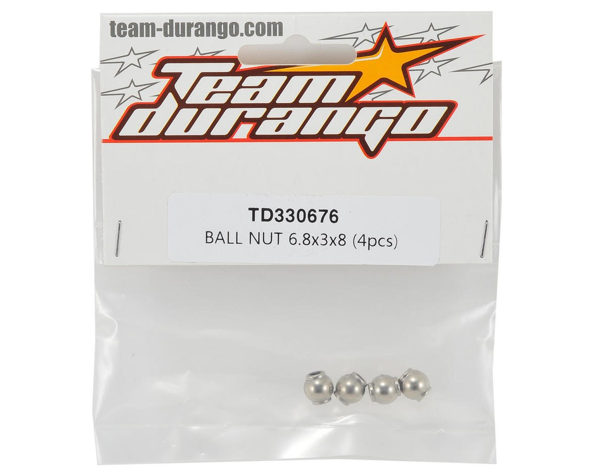 Team Durango 6.8x3x8mm Ball Nut (4)
