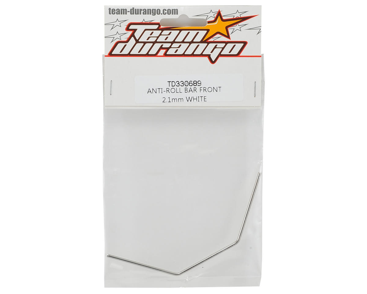 Team Durango 2.1mm Front Anti-Roll Bar (White)