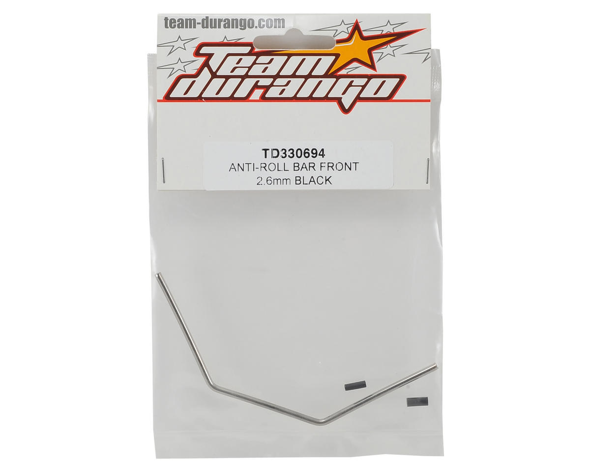 Team Durango 2.6mm Front Anti-Roll Bar (Black)