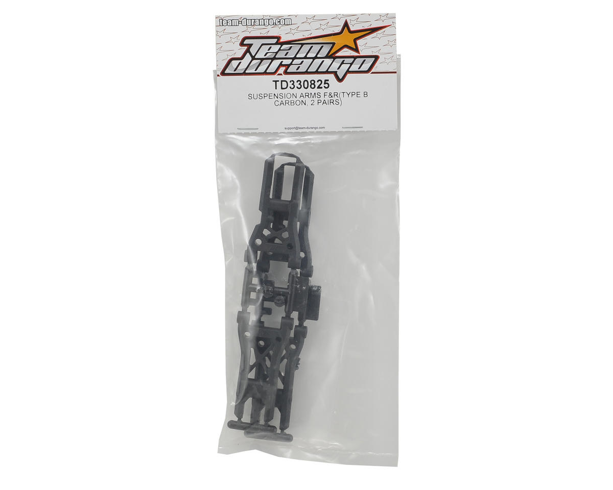 Team Durango DETC410 V2 Carbon Type B Suspension Arm