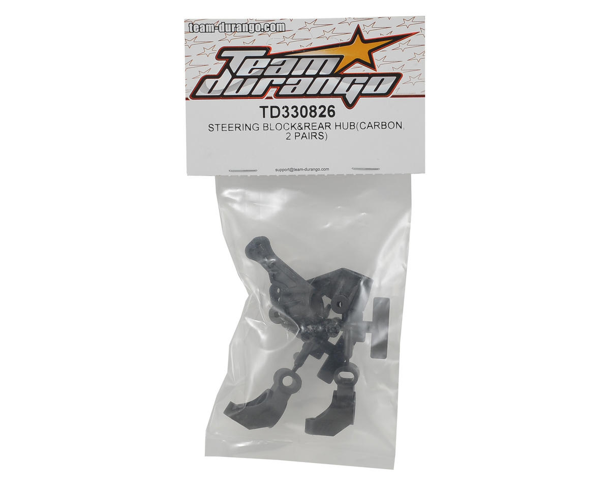 Team Durango DETC410 V2 Carbon Steering Block & Rear Hub