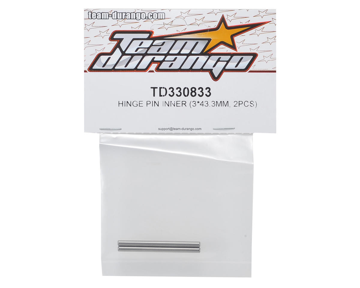 Team Durango 3x43.3mm Rear Inner Hinge Pin (2)