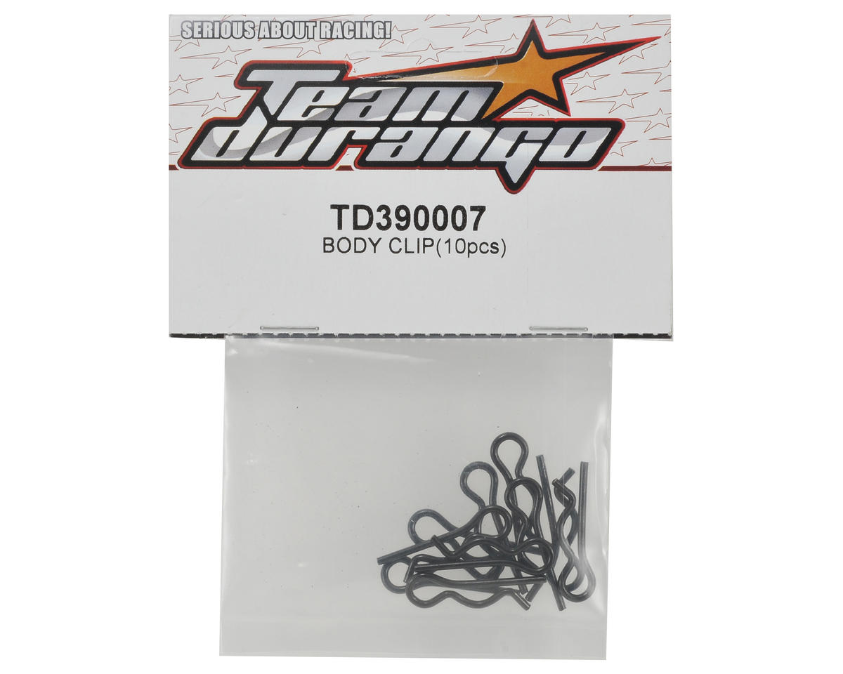 Team Durango Body Clip Set (10)