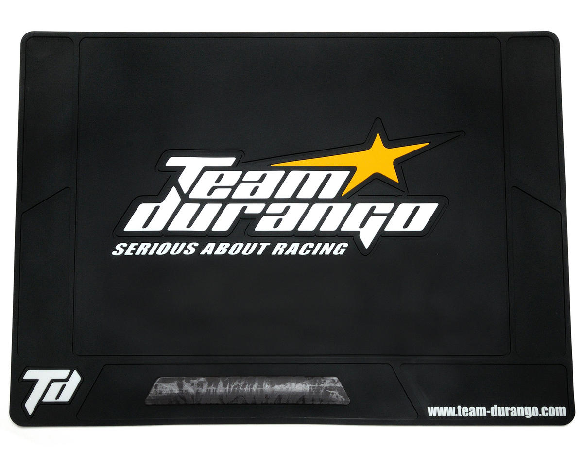 Team Durango Large Rubber Pit Mat (Black) (62x42cm)