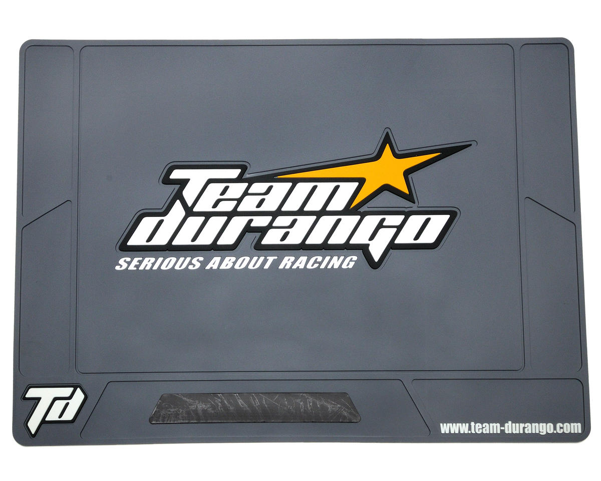 Team Durango Large Rubber Pit Mat (Tungsten) (62x42cm)