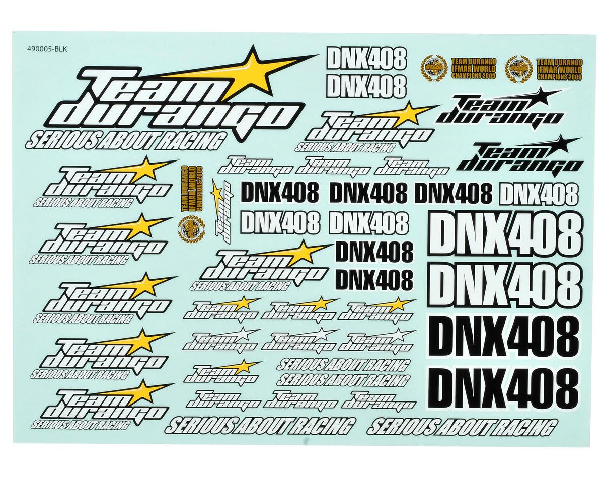 Team Durango DNX408 Decal Sheet