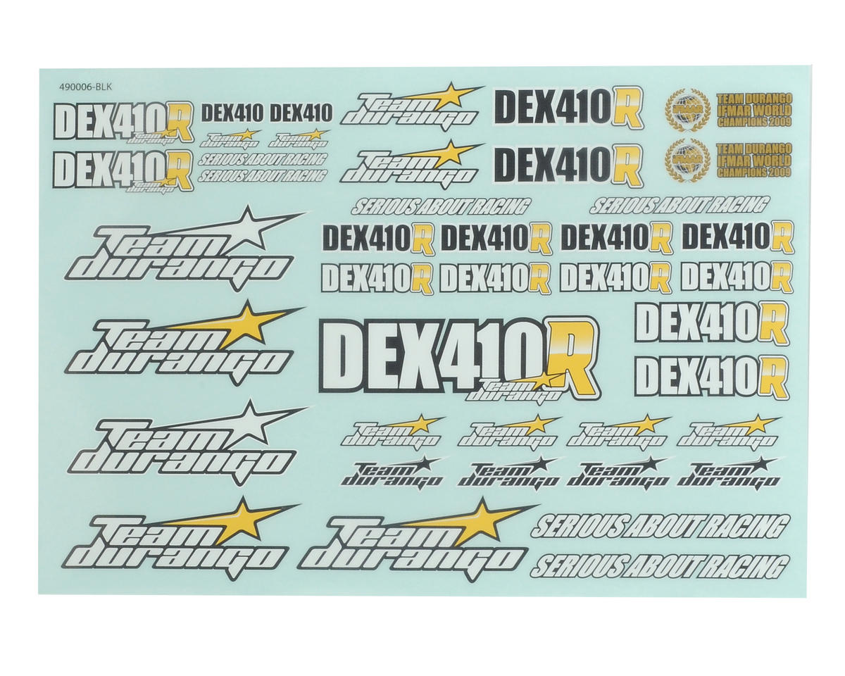 Team Durango DEX410R Decal Sheet