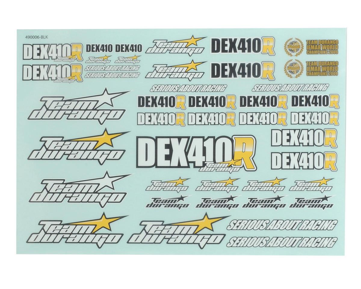 Team Durango DEX410R Decal Sheet