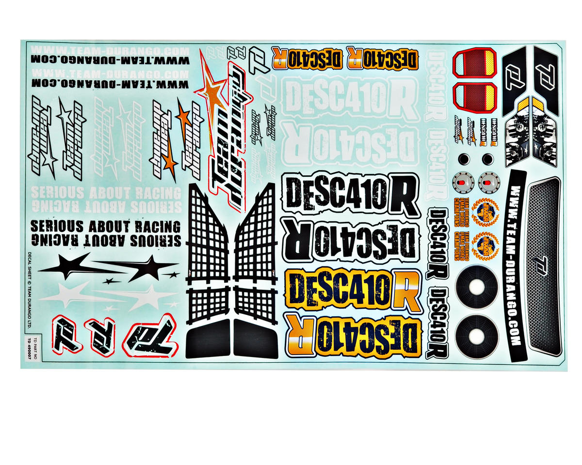 Team Durango DESC410R Decal Set