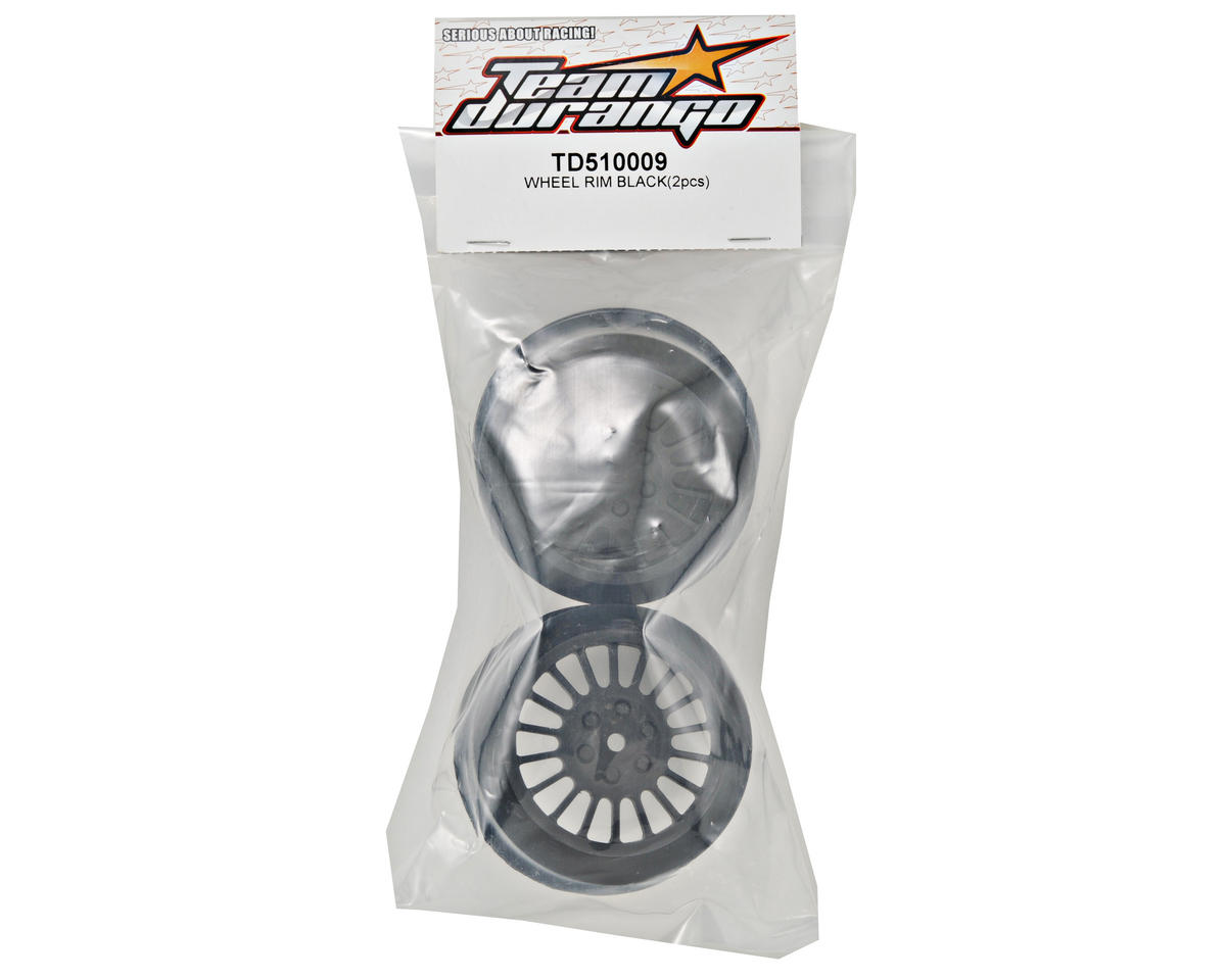 Team Durango 15mm Hex Short Course Wheels (Black) (2) (DESC210/410)