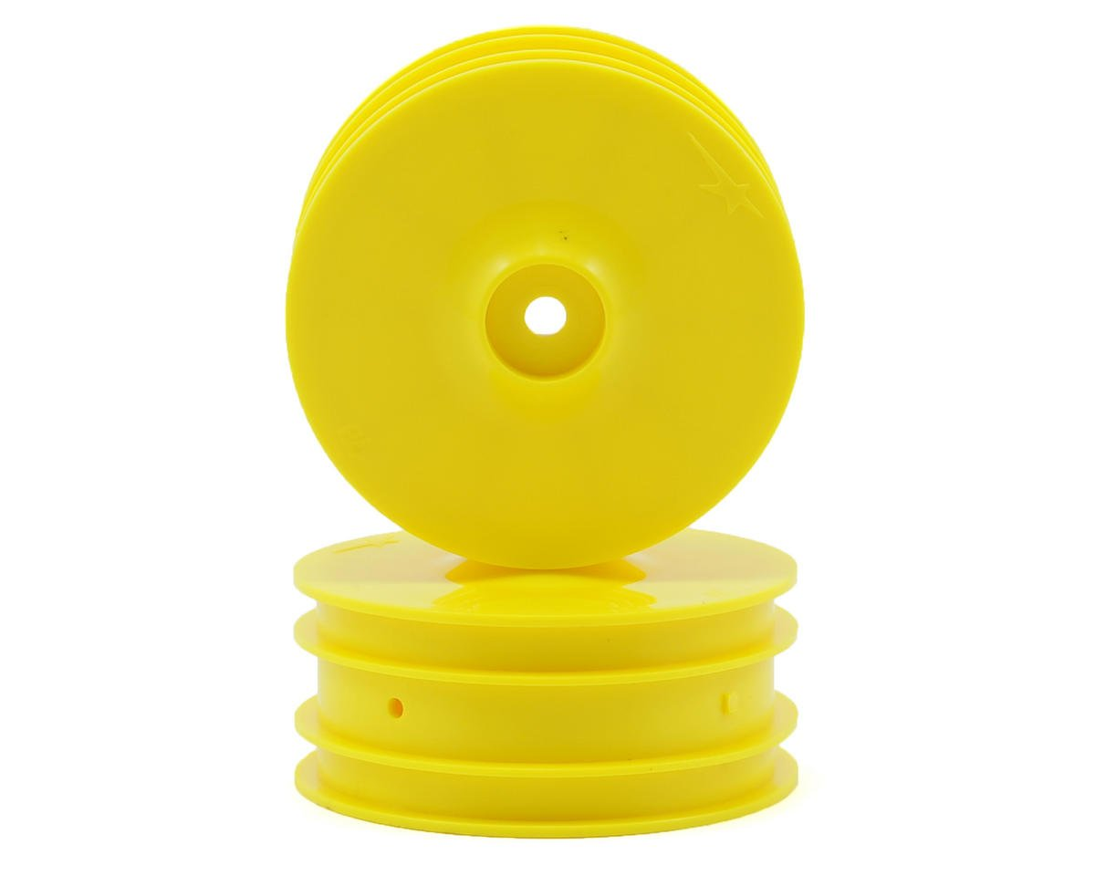 Team Durango DEX410 V4 14mm Hex 1/10 4WD Front Buggy Wheels (2) (Yellow) (DEX410)