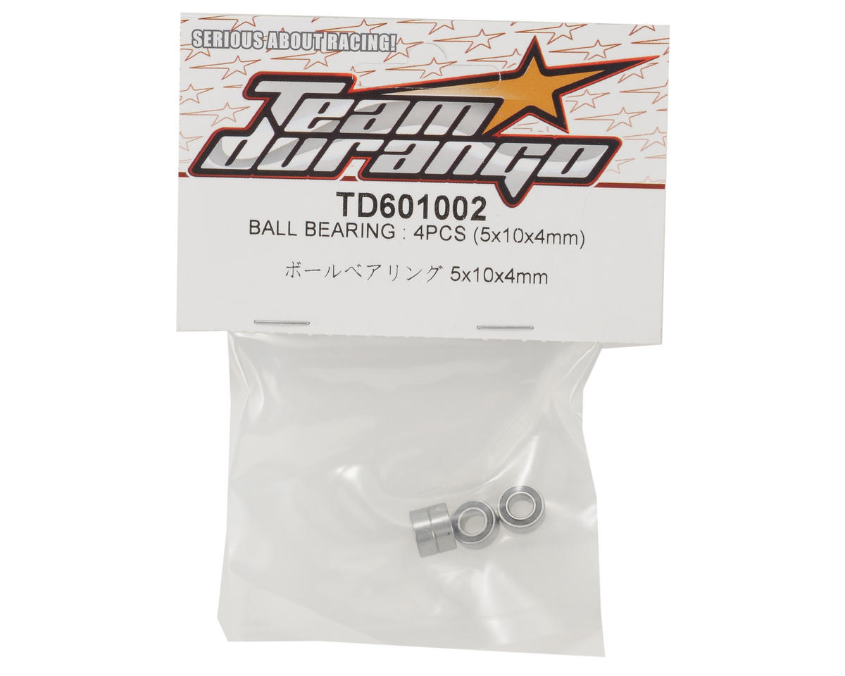 Team Durango 5x10x4mm Ball Bearing Set (4)