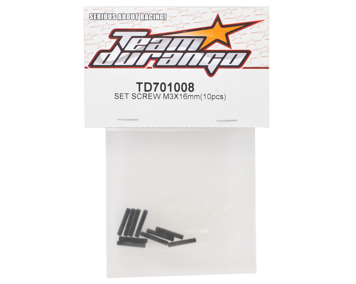 Team Durango 3x16mm Set Screw (10)