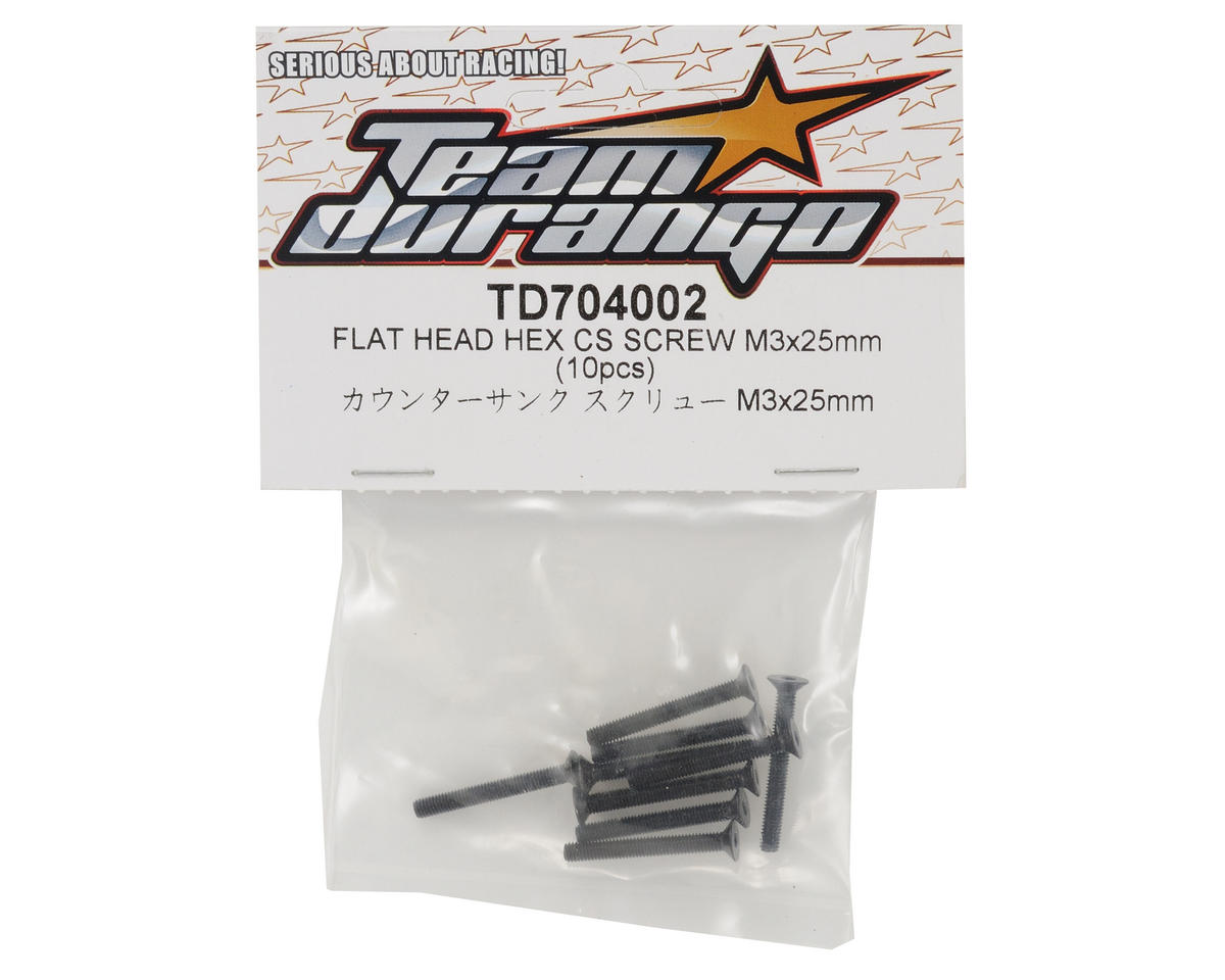 Team Durango 3x25mm Flat Head Hex Screw Set (10)