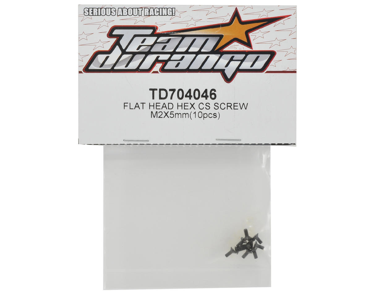 Team Durango 2x5mm Flat Head Screw Set (10)
