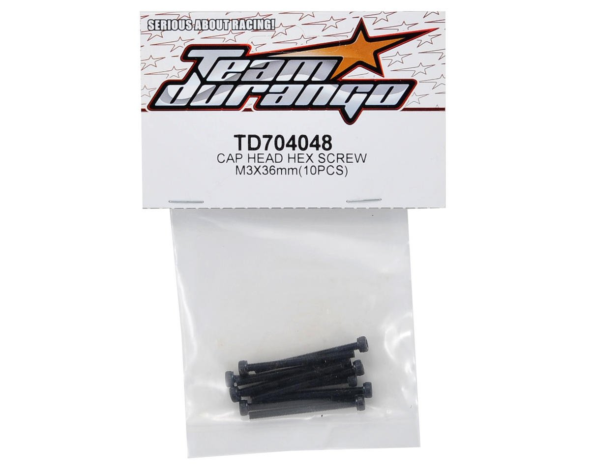 Team Durango 3x36mm Cap Head Screw Set (10)