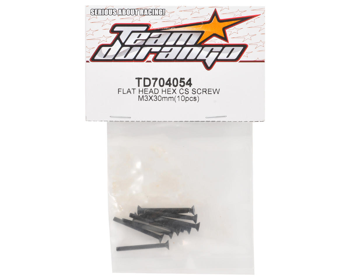 Team Durango 3x30mm Flat Head Screw (10)
